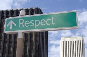 What is a sign of respect?