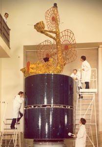 Intelsat 4A being built